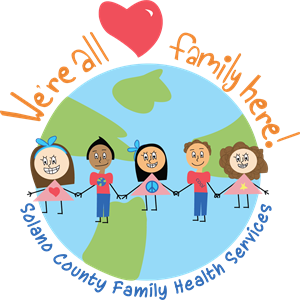 Family health services logo with people holding hands