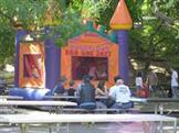 Bounce house at company picnic, Lake Solano Day Use Area