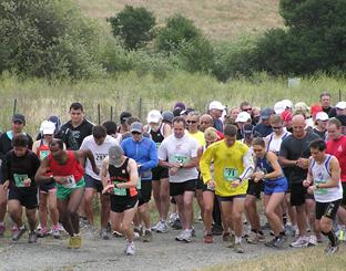 Runners at staring line Lynch Canyon Trail Run and Community Hike 2009